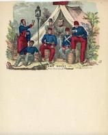 04x069.20 - Soldiers in front of tent from photograph 1, Civil War Illustrations from Winterthur's Magnus Collection